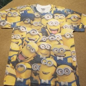 Minions Large Tshirt Short Sleeve white back